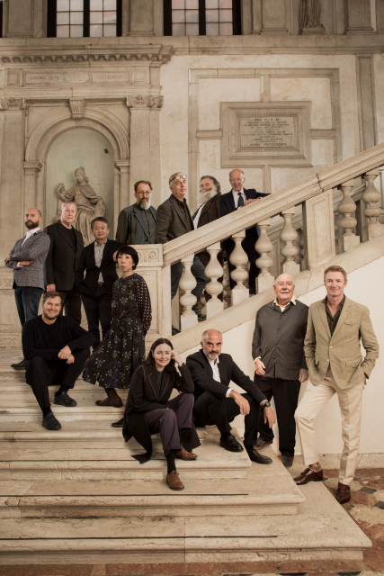 Homo Faber 2021 Curators and Designers with Founder Franco Cologni and Executive Director Alberto Cavalli_Laila Pozzo©Michelangelo Foundation