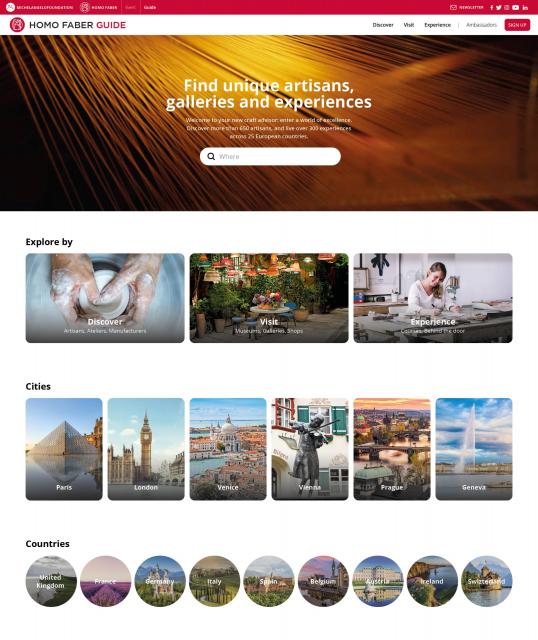 Homo Faber Guide Hmepage©Michelangelo Foundation