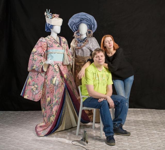 Stylised Japanese & Yaruba Costumes_Asya Kozina & Dmitriy Kozin Artisans©All rights reserved