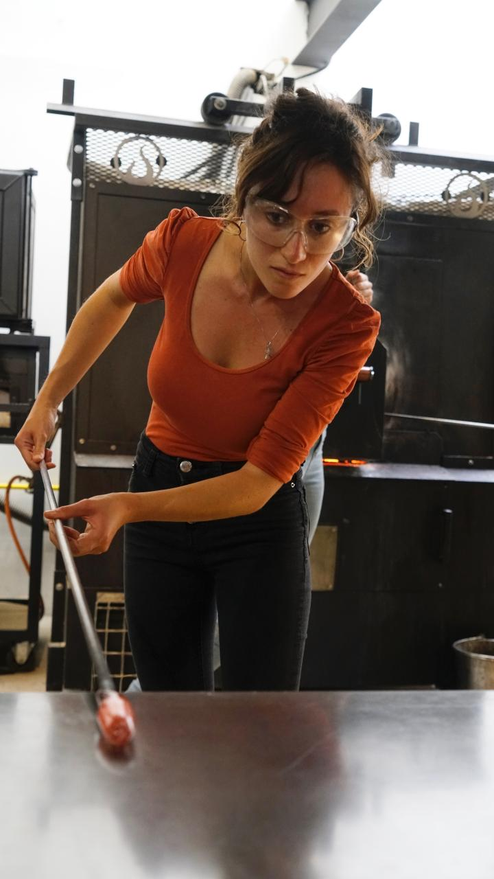 Cristina Benedetti Student Summer School 2019 Glassblowing Marc Baudrillart©Michelangelo Foundation