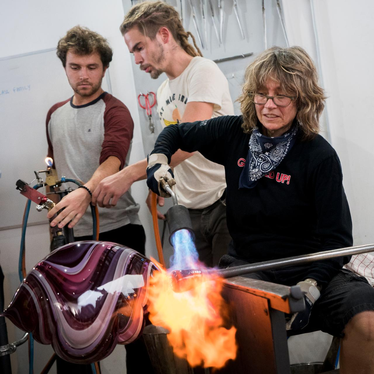 Nancy Callan Artisan Summer School 2019 Glassblowing Belle Ile Marc Baudrillart©Michelangelo Foundation
